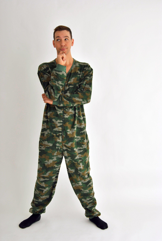 Mens Camouflage printed onesie
